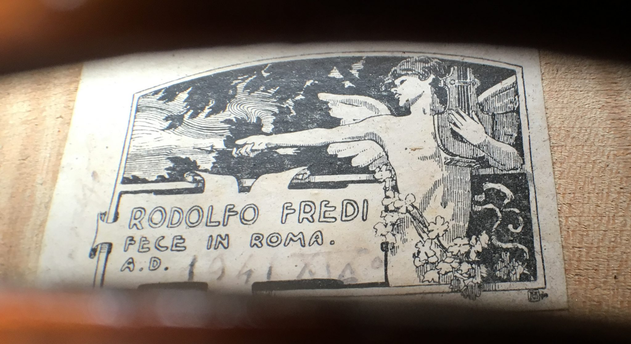 Violin by Rodolfo Fredi Rome 1941 for sale at Bridgewood and Neitzert London