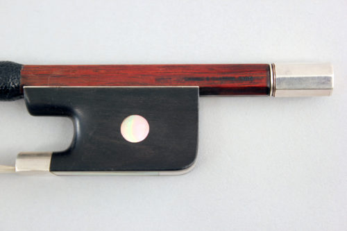 Cello bow by Andre Chardonfor sale at Bridgewood and Neitzert London