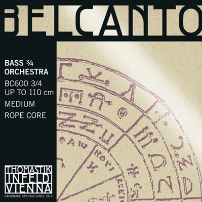 Belcanto Double Bass Strings for sale at Bridgewood and Neitzert London