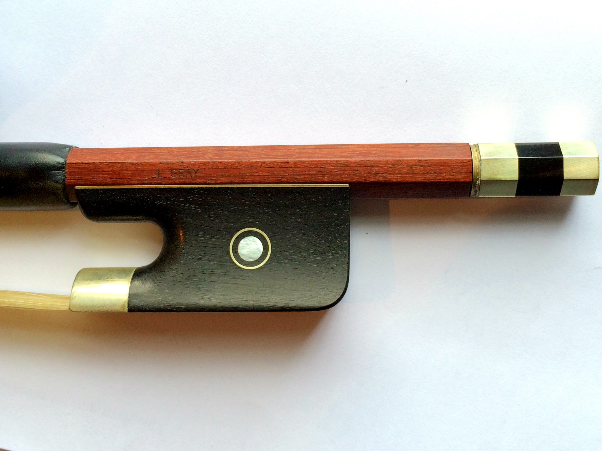 L Gray 3/4 Double bass bow French for sale at Bridgewood and Neitzert London