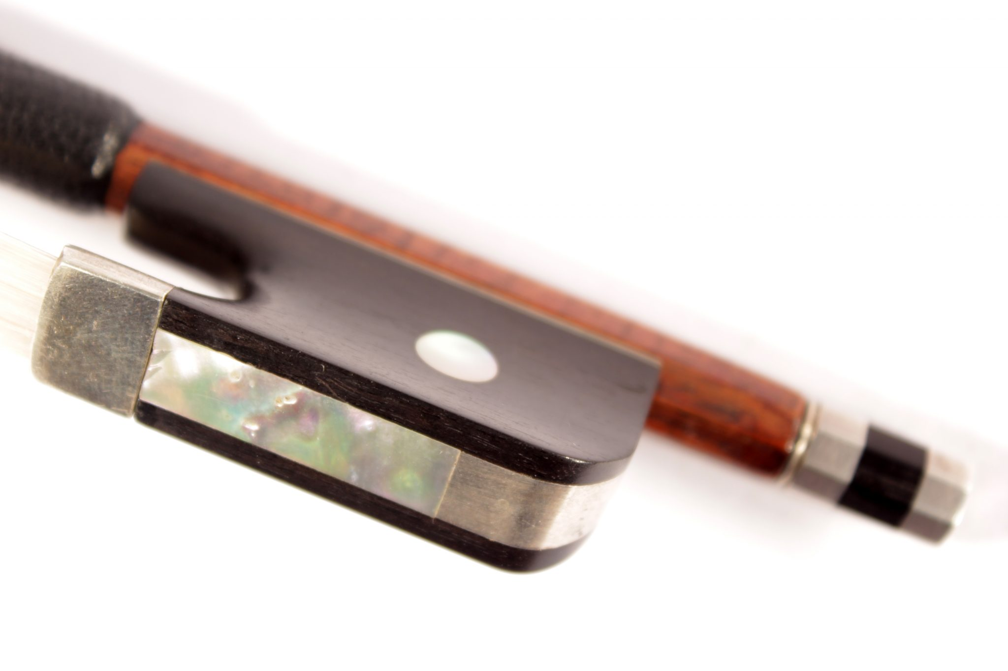 viola bow silver for sale at Bridgewood and Neitzert London