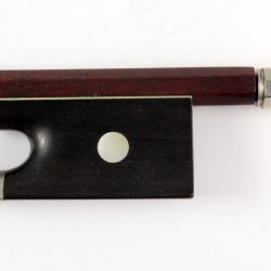 W E Hill & Sons violin bow by Charles Leggett for sale at Bridgewood and Neitzert London