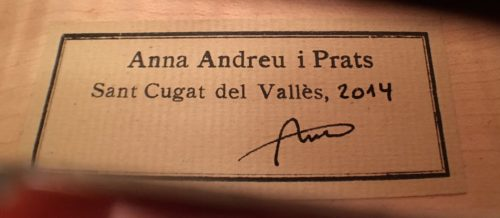 Violin by Anna Andreu Prats for sale at Bridgewood and Neitzert London