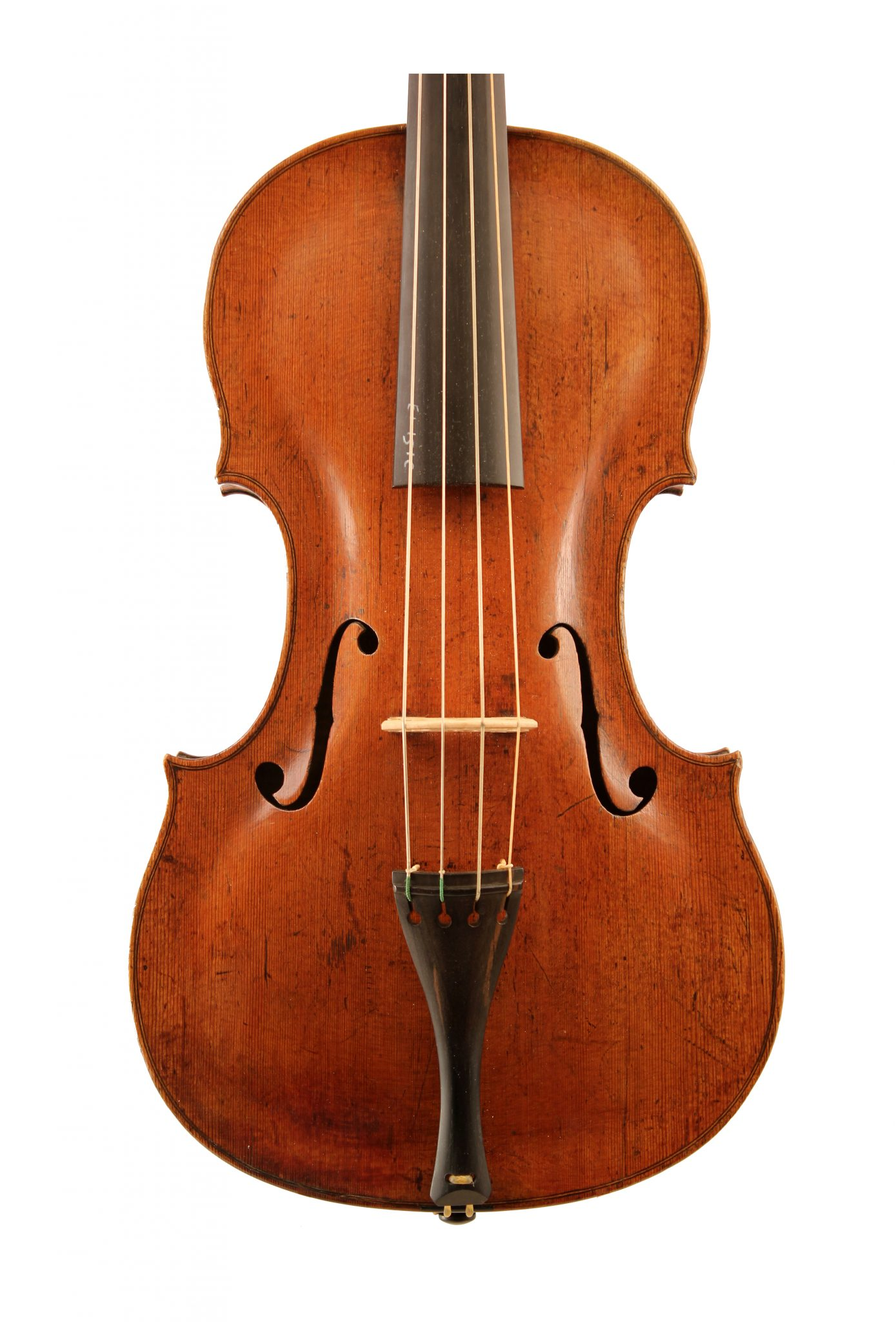 Baroque viola by Simon Voigt 1736 for sale at Bridgewood and Neitzert London