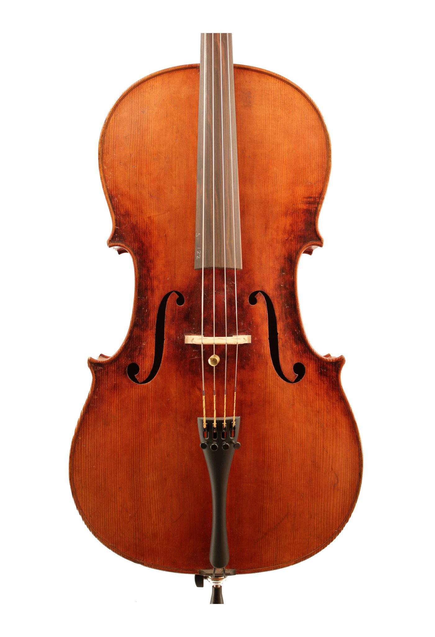 German cello c1890 for sale at Bridgewood and Neitzert London