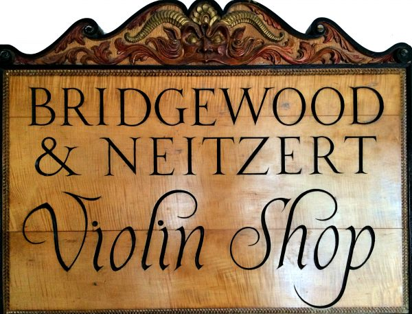 Bridgewood and Neitzert Shop Sign
