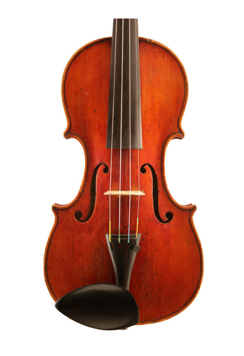 Violin-by-Charles-Harris-c1830-front for sale at Bridgewood and Neitzert London