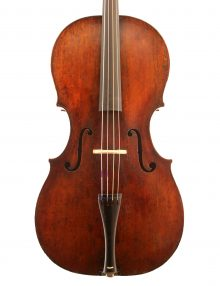 Baroque-Cello-Bohemian-c1770-front for sale at Bridgewood and Neitzert London
