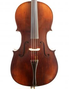 7/8 GERMAN, SAXON CELLO C.19 for sale at Bridgewood and Neitzert London