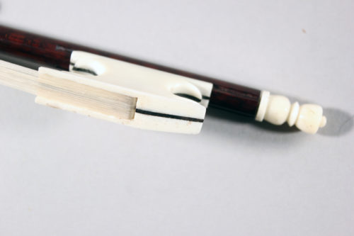 Baroque Violin Bow, Snakewood, bone frog for sale at Bridgewood and Neitzert London