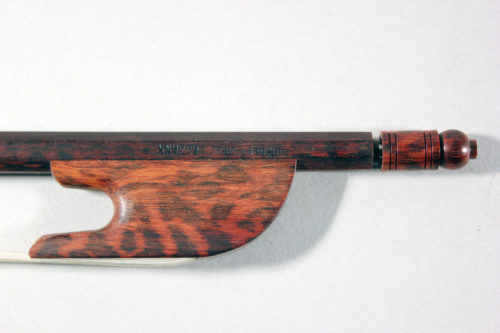 Baroque violin bow by Francine Humbert-Droz Switzerland 2018 for sale at Bridgewood and Neitzert London