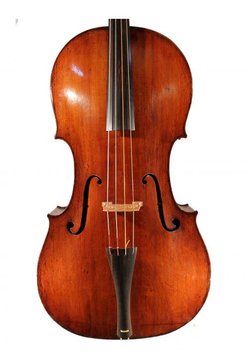 Baroque cello by Jacob Haynes, London 1745 for sale at Bridgewood and Neitzert London