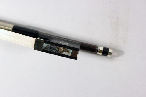 Jon Paul Bravo Carbon Violin Bow Nickel Mounted for sale at Bridgewood and Neitzert London