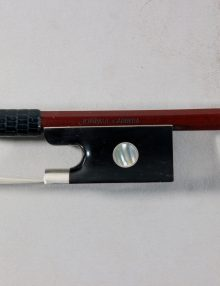 Jon Paul Carrera Carbon Violin Bow Silver mounted Horn Frog for sale at Bridgewood and Neitzert London