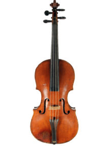 Baroque transitional violin probably by Lockey Hill c.1785 for sale at Bridgewood and Neitzert London