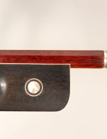 Cello Bow Brazilian By Brazil Buzzato Bows Pernambuco Silver Mounted for sale at Bridgewood and Neitzert London