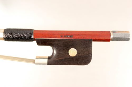 Cello bow stamped W. Ernst for sale at Bridgewood and Neitzert London