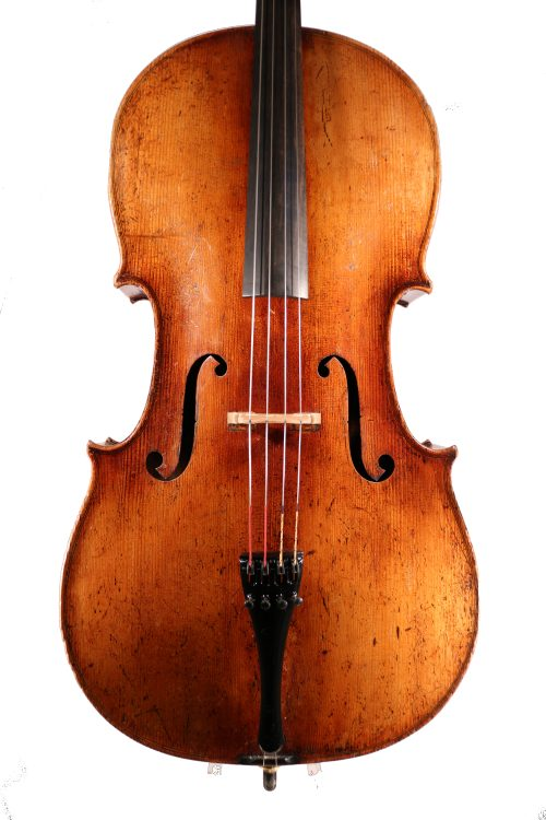 German Cello, C.1890 labelled 'Leandro Bassi' for sale at Bridgewood & Neitzert London
