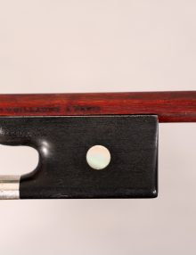 Viola bow by J C Nurnberger c.1860 (attrib Herman W Prell) for sale at Bridgewood and Neitzert London